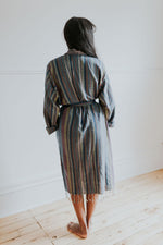 The Soft Stripe Bathrobe in Evening
