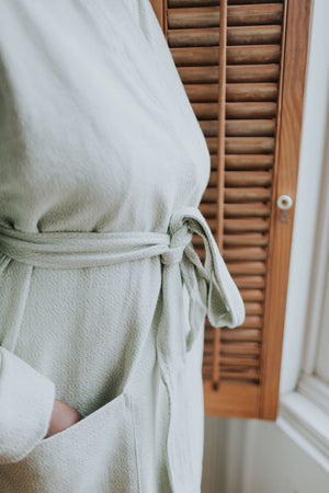 The Mera Bathrobe in Mint Green