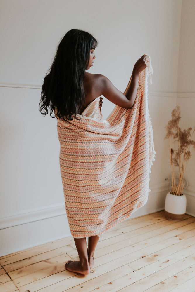 Warm Honeycomb Oversized Bath Towel