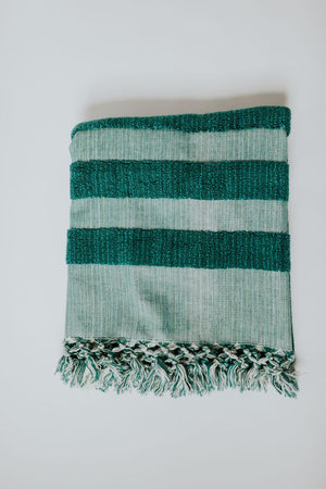 Deep Sea Green Oversized Bath Towel