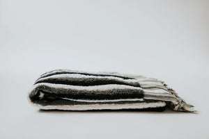 Black + White Stripe Oversized Bath Towel