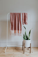 Warm Pink + Red Bath Towel