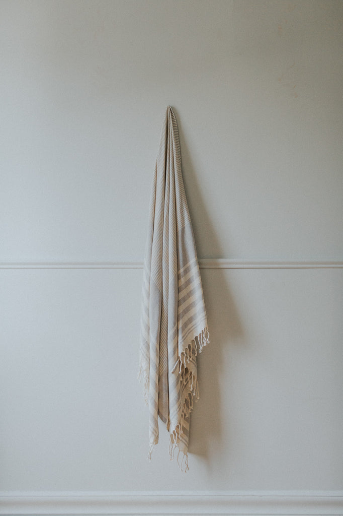 grey organic turkish towel