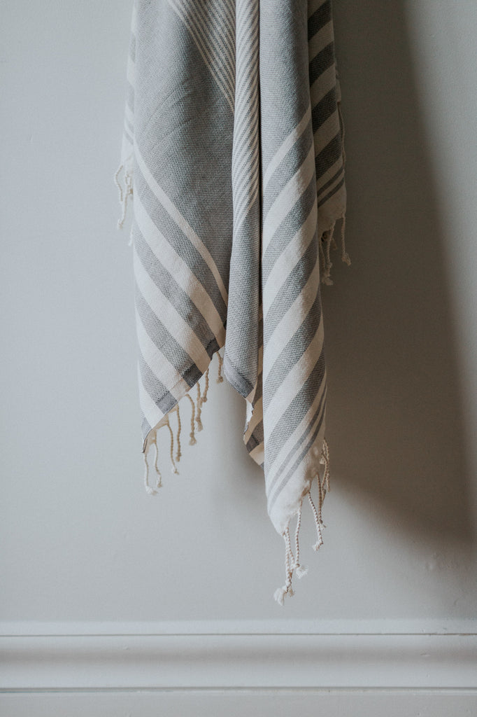 charcoal organic turkish towel