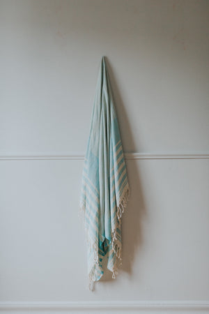 turquoise organic turkish towel