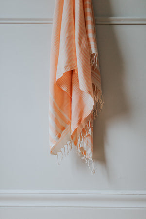 tangerine organic turkish towel