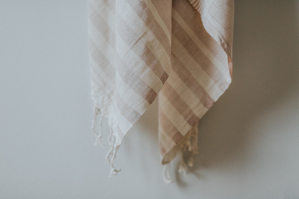 taupe organic turkish towel