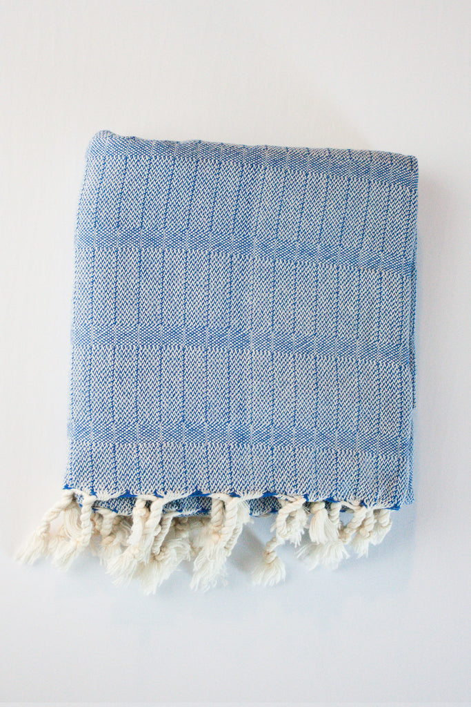 Deep Blue Turkish Towel