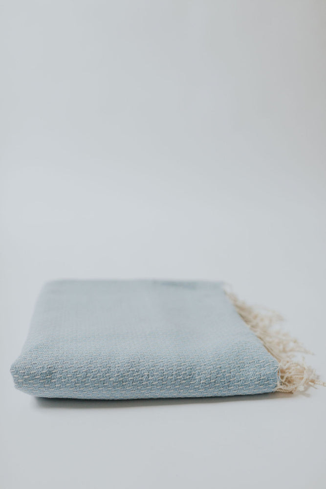 Small Stitch Peshtemal in Soft Blue
