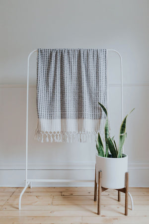 Lavender + Grey Wave Oversized Bath Towel