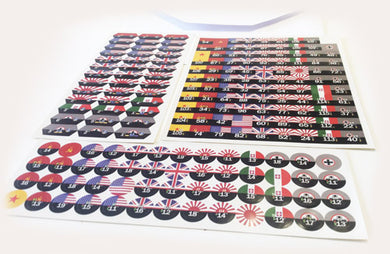 WAR ROOM: All 7 Nation Command Stickers (3 sheets)
