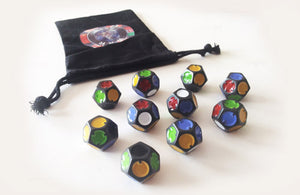 WAR ROOM: 10 Custom Dice with Logo Dice Bag
