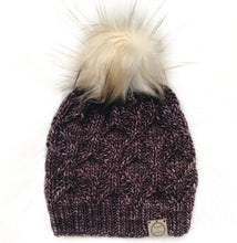 Load image into Gallery viewer, The Luxe Hexa Beanie in Orujo with  Toasted Marshmallow Pom