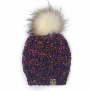 The Luxe Adira Beanie in Arco Iris with Toasted Marshmallow Pom