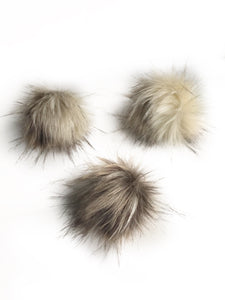 Rocky Road Faux Fur Poms