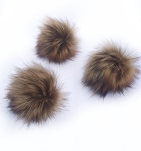 Kodiak Faux Fur Poms