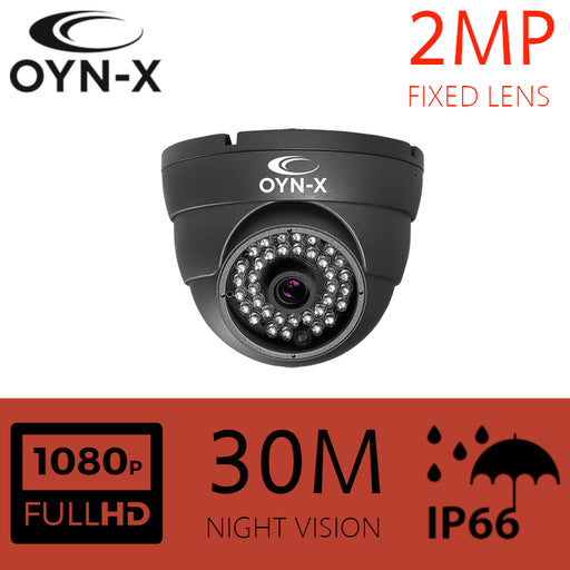 2MP Fixed Lens 3.6mm HDOC Dome Camera 30m IR GREY
