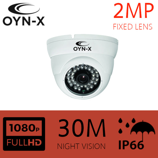 2MP Fixed Lens 3.6mm HDOC Dome Camera 30m IR WHITE