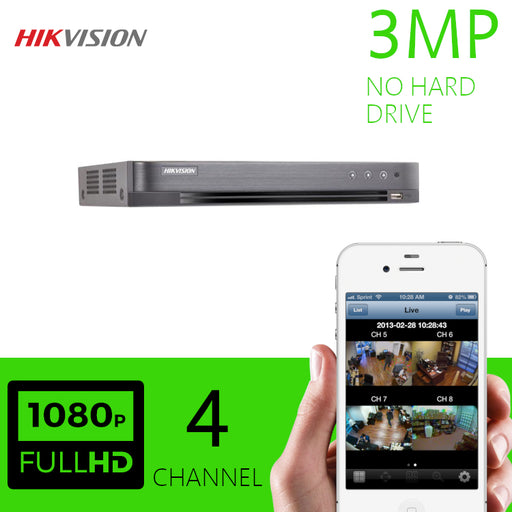 Hikvision 3MP 4 Channel DVR