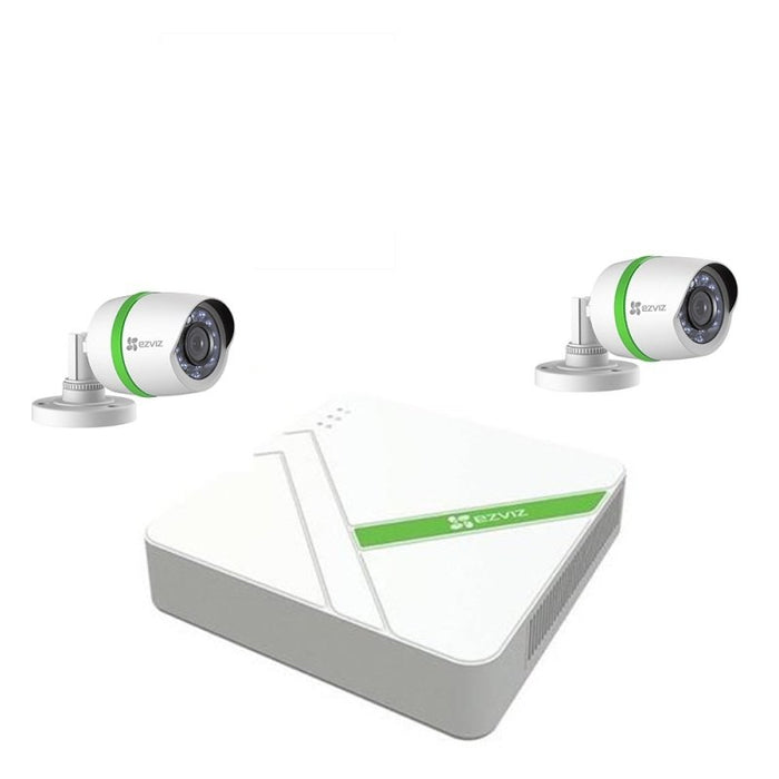 EZVIZ 2.4MP 2 Camera CCTV Kit with 1TB Hard Drive