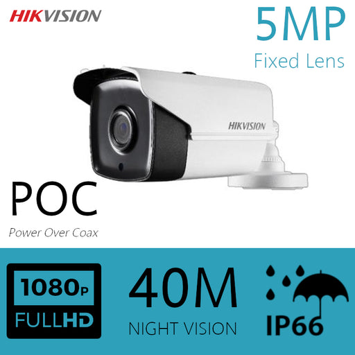 Hikvision 5MP CCTV Camera Power Over Coax HDOC Bullet 40m IR