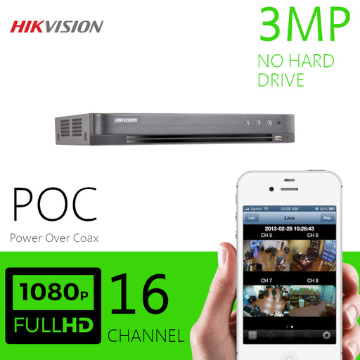 Hikvision 3MP 16 Channel DVR Power over Coax DVR