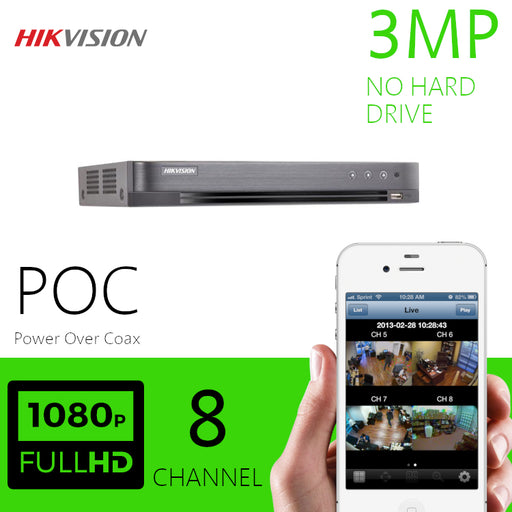 Hikvision 3MP 8 Channel DVR Power over Coax DVR