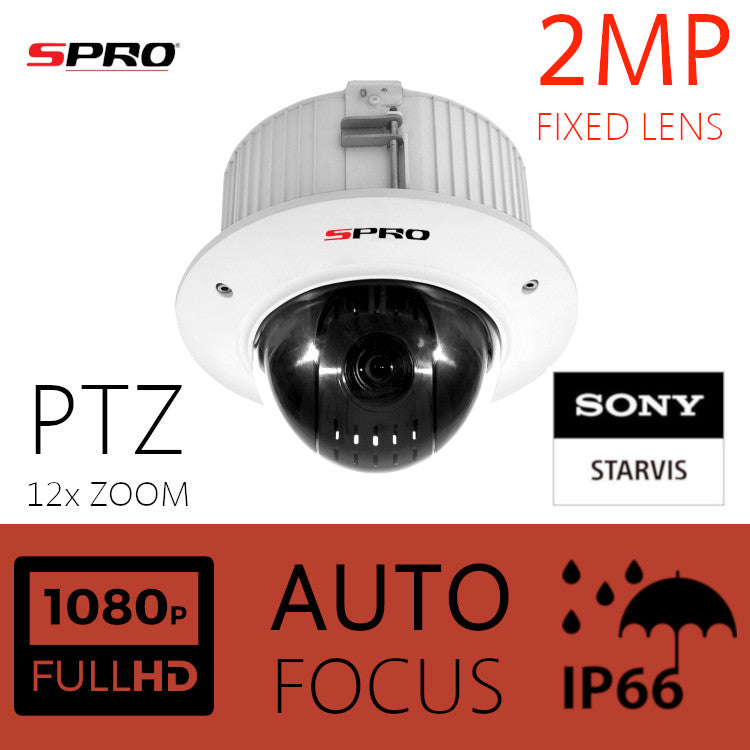 SPRO 2MP HDOC Dome PTZ with 12x Optical Zoom & Sony Starvis Lens