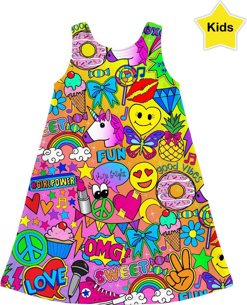 """Glamour and Glitter"" Kids Dress"
