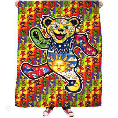 Acid Bears Fleece Blanket - Free Shipping - Blankets