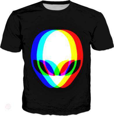 Alien Face Men T-Shirt - Free Shipping - T-Shirts