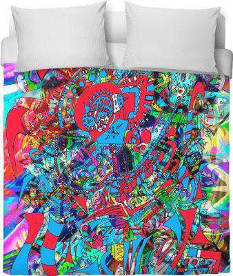 Alien Tornado Smash 101 Duvet Cover - Free Shipping - Covers