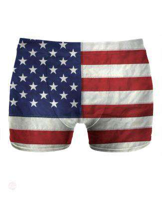 American Flag Underwear - Free Shipping - Small / Brown