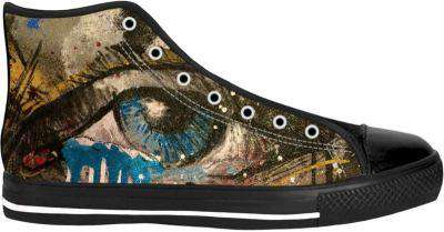 Anjel Eye Shoes - Free Shipping - Hightop Blacksole