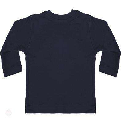 Baby T-Shirt With Press-Studs Long Sleeve - Free Shipping - Nautical Navy / 3-6 Mois - Child & Baby>T-Shirts
