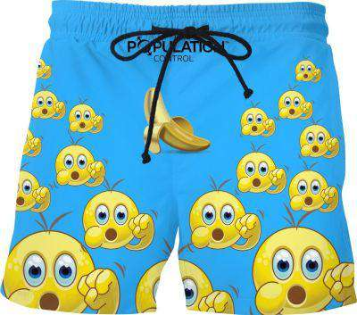 Banana Blomoji 1 Swim Shorts - Free Shipping
