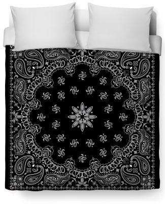 Bandana Duvet Cover - Free Shipping - Twin Size / Black - Covers