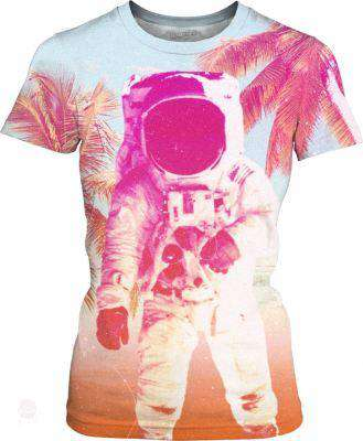 Beach Astronaut Womens T-Shirt - Free Shipping - Women T-Shirts