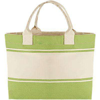 Beach Tote Bag - Free Shipping - Kiwi / Natural / Tu - Accessories & Hats>Bags