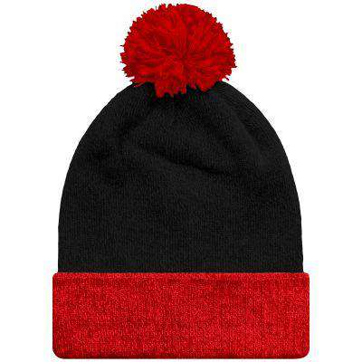 Beanie Snowstar Two-Tone - Free Shipping - Black / Bright Red / Tu - Accessories & Hats>Beanies
