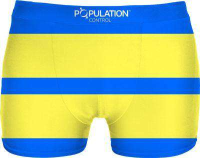 Blue And Yellow Stripes Underwear - Free Shipping - Underwear