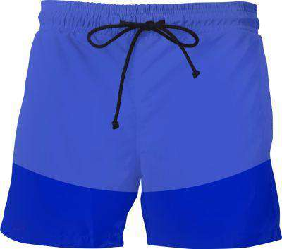Blue Circle Swim Shorts - Free Shipping