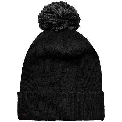 Bobble Hat Reversible Beanie - Free Shipping - Black / Graphite Grey / Tu - Accessories & Hats>Beanies