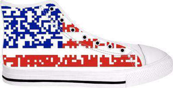 Bon Cyber Flag High Top Shoes - Free Shipping - Hightop Whitesole