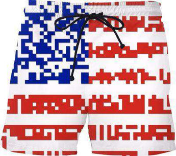 Bon Cyber Usa Flag Swim Shorts - Free Shipping