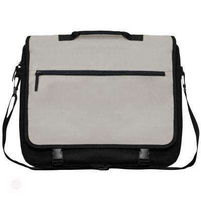 Briefcase / Laptop Bag With Flap - Free Shipping - Black / Light Grey / 40 X 34 10 Cm - Accessories & Hats>Bags