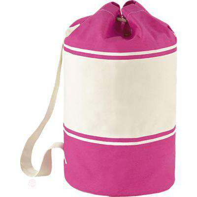 Sailor Canvas Bag - Free Shipping - Fuchsia / Natural / Tu - Accessories & Hats>Bags