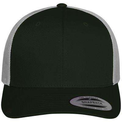 Trucker Cap Retro Model - Free Shipping - Forest Green / Light Grey / Tu - Accessories & Hats>Caps