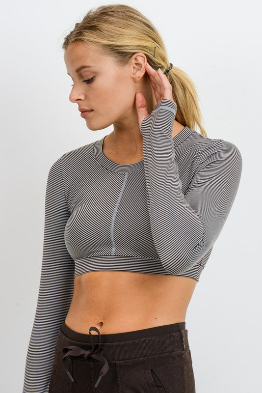Micro Stripe Top