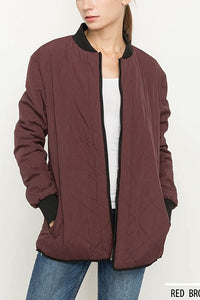Burgandy Bomber Jacket
